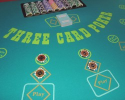 Three Card Poker Table Rental